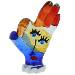 Murano Glass Picasso Hand OK Sign