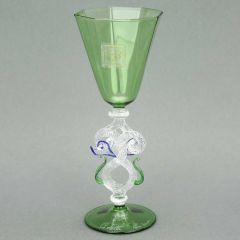 Murano Glass Cordial Liqueur And Sherry Glass - Green