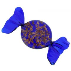Murano Glass Candy - Avventurina Blue