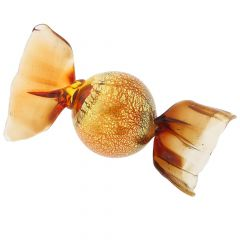 Murano Candy - Small Red and Gold