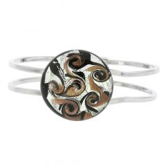 Venetian Reflections Metal Bracelet - Black Silver