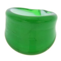 Venetian Contemporary Ring In Flat Design - Emerald Green