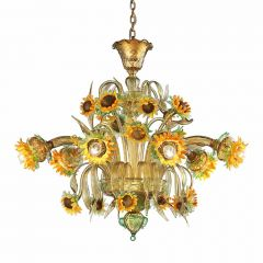 Girasoli Murano Glass Chandelier