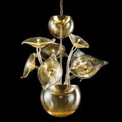 Hibiscus Murano Glass Chandelier