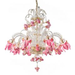 Iris Murano Glass Chandelier