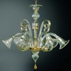 Pastorale Down Facing Murano Glass Chandelier