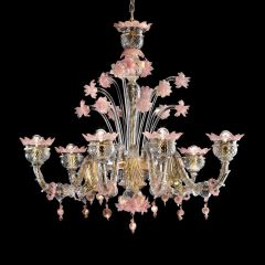 Sant'Angelo Murano Glass Chandelier
