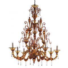 San Pietro Murano Glass Chandelier