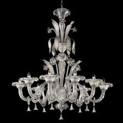 Silvermoon Murano Glass Chandelier