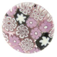 Arlecchino Murano Millefiori Round Ring - Lilac
