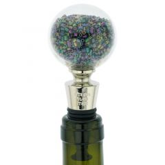 Murano Glass Sparkly Beads Bottle Stopper - Iridescent