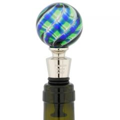 Murano Glass Bottle Stopper - Bright Chalcedony