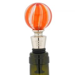 Murano Glass Bottle Stopper - Red