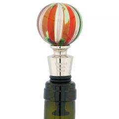Murano Bottle Stopper - Red and Green
