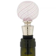 Murano Glass Bottle Stopper - Thunderstorm