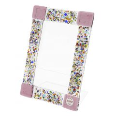 Murano Klimt Photo Frame - Amethyst Small