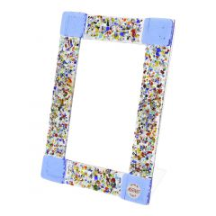 Murano Klimt Photo Frame - Blue Small