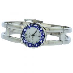 Murano Millefiori Watch With Metal Bracelet