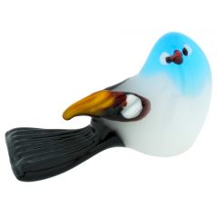 Murano Glass Baby Bird - Aqua Blue