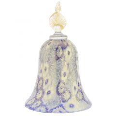 Golden Quilt Blue Millefiori Bell
