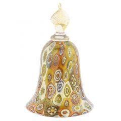Golden Quilt Multicolor Millefiori Bell