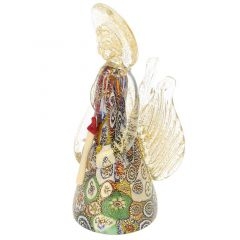 golden quilt millefiori murano angel - Christmas Angel Figurines