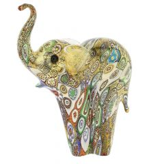 Golden Quilt Millefiori Murano Elephant