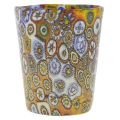 Murano Millefiori Shot Glass - Gold Multicolor