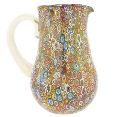 Golden Quilt Millefiori Murano Pitcher / Carafe