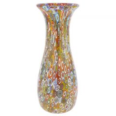 Golden Quilt Millefiori Murano Decanter