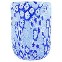Murano Tumbler - Blue Millefiori