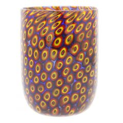 Murano Tumbler - Mosaic Red and Yellow
