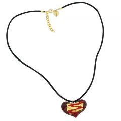 Riga Murano Glass Heart Necklace - Red