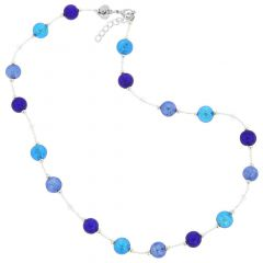 Beatrice Murano Glass Necklace - Blue