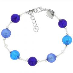 Beatrice Murano Glass Bracelet - Blue