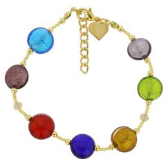 Beatrice Murano Glass Bracelet - Multicolor