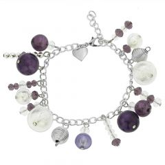 Sorgente Murano Glass Bracelet - Purple