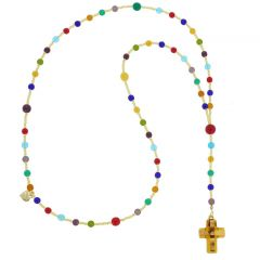 Murano Glass Italian Rosary - Golden Brown