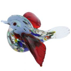 Murano Glass Exotic Bird - Multicolor