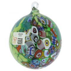 Primavera Millefiori Murano Glass Christmas Ornament - Green