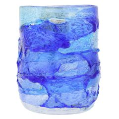 Murano Sbruffo Drinking Glass - Aqua Blue