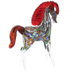 Murano Art Glass Millefiori Horse