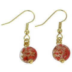 Starlight Balls Earrings - Red