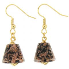 Starlight Cones Earrings - Black