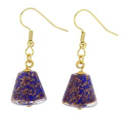 Starlight Cones earrings - navy blue