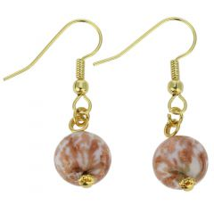 Starlight Balls Earrings - Rose Cream