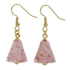 Starlight Cones earrings - carnation pink