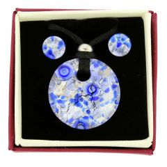 Venetian Reflections Round Jewelry Set - Periwinkle