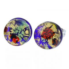 Venetian Reflections Round Stud Earrings - Golden Meadow