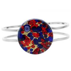 Venetian Reflections Metal Bracelet - Blue Red